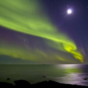 Norðurljós við Reykjanes