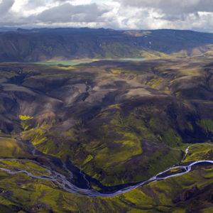 Að Fjallabaki. Tekið ofan af Strúti (900m).